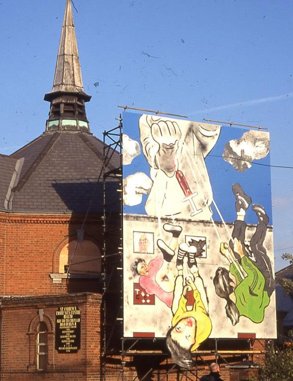 Burning the Demons, Embracing the Future Mural, St Andrew's Community Centre (Photo: Chris Maguire)