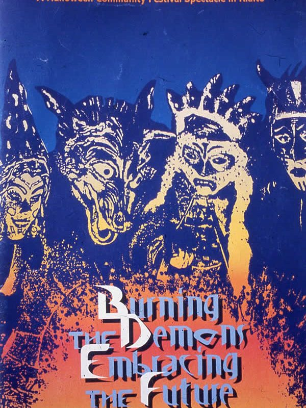 Burning the Demons, Embracing the Future Explanatory Leaflet (Photo: Chris Maguire)