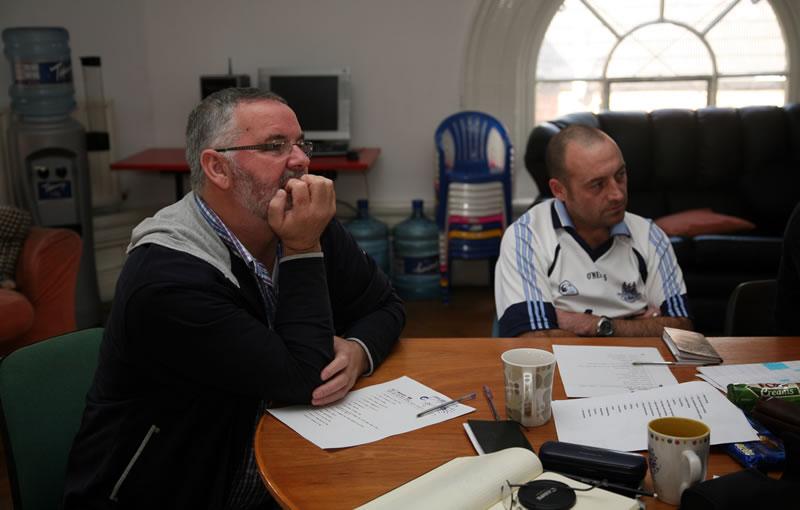 Jim Lawlor & Paul Hendrick, St Andrew's Community Centre. Photo: Chris Maguire