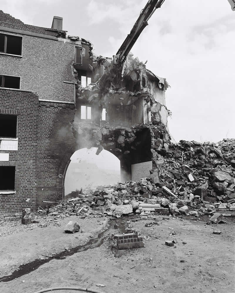 Demolition of The Arch, Fatima Mansions ( June 13th, 2006) . Photo: Chris Maguire